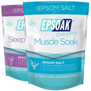 Epsoak Scented Epsom Salt Bundle and Muscle Soak review.Advantage of epsom salt for curing hemorrhoids.