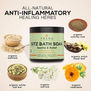 organic sitzbath soak, organic epsom salt solution for hemorrhoid treatment and natural hemorrhoid medicine